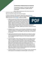 DESARROLLO DE ESTRATEGIAS INTERNACIONALES DE NEGOCIOS
