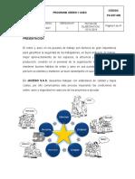 PG-SST-005 PROGRAMA DE ORDEN Y ASEO