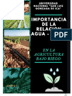Monografia La Importancia Del agua en La Agricultura