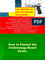 RATIONALIZATION IN BALLISTICS AND QUESTIONED DOCUMENTS