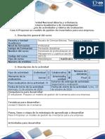 Guía de actividades y rúbrica de evaluación - Fase 6 Proponer un modelo de gestión de inventarios para una empresa.pdf