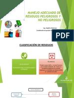 MANEJO ADECUADO DE RESIDUOS PELIGROSOS Y NO PELIGROSOS