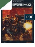 Codex Marines Espaciales Del Caos 3ª