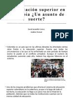 La educación superior en Colombia ¿Un asunto