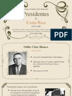 PRESIDENTES DE COSTA RICA 1949-1970