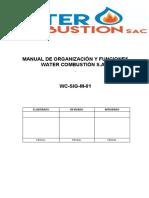 2. MANUAL DE ORGANIZACIÓN Y FUNCIONES - WATER COMBUSTION S.A.C