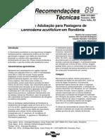 Calagem e Adubação de Pastagens de Centrosema acutifolium