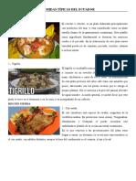 COMIDAS TÍPICAS DEL ECUADOR