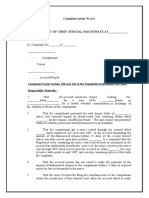 Complaint under NI Act