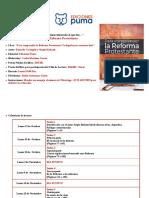 Calendario Club de lectura Mes de la Reforma Actualizado