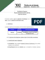Matricula Septiembre - Diciembre 2020 (Región Capital) Metodología Todas las cohortes