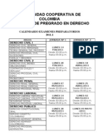 CALENDARIO EXAMENES PREPARATORIOS 1-2011
