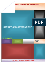 Form 2 notes History FRIENDS SCHOOL KAMUSINGA Teaching and learning notes for the teacher and student