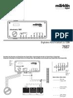 Marklin 7687 manual