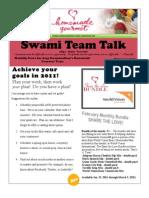 Feb 2011 Swami Team Talk