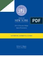 Cuomo NYS Budget 2011-2012