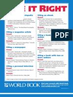 World Book Citation Poster