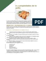 Beneficios y propiedades de la carne de pollo