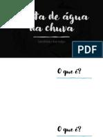COLETA DE ÁGUA DA CHUVA