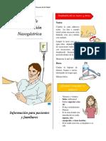 Sonda de Alimentación Nasogástrica diptico