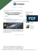▷ Primera Ley de la Termodinámica - 【 Ejercicios Resueltos 】 - Fisimat