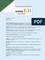 Atividade II - Linguística I (Glossário)