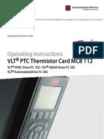 VLT PTC Thermistor Card MCB 112