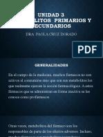 Unidad 3. METABOLITOS PRIMARIOS Y SECUNDARIOS (1)
