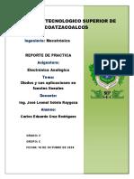 REPORTE DE PRACTICAS UNIDAD 2 [ELECTRONICA ANALOGICA]
