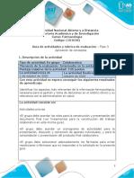 Guía de actividades y rúbrica de evaluación - Unidad 2 - Fase 3 - Aplicación de conceptos