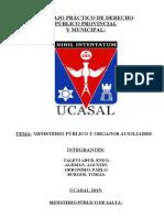 MINISTERIO PÚBLICO-SINDICATURA Y AUDITORIA