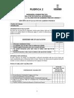 Rúbrica Conocimientos Previos - EI - Unidad 1B