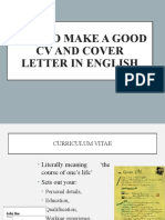 Meet 1-CV and cover letter