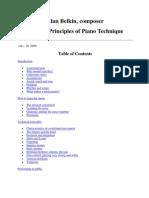 General Principles of Piano Technique