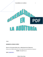 GOMEZ LOPEZ ROBERTO - Generalidades En La Auditoria