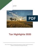 Tax Highlights 2020