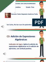 SUMA DE EXPRESIONES ALGEBRAICAS 7MO-U3S2C3