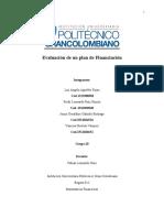 Evaluación de un plan de Financiación (2)