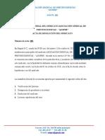 ACTA DE DISOLUCIÓN DEL SINDICATO