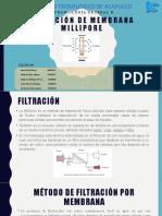Filtración de membrana millipore