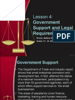government support and legal requirements