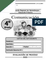 2020 CUARTO GRADO COMUNICACION