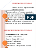 UNIT 1(h) FORMS OF BUSINESS ORGANISATION
