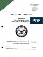 Mil Hdbk 245d - Handbook for Preparation of Statement of Work (SOW)