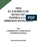 CCI_El ejemplo de Rusia 1917 inspira a los obreros húngaros