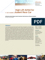Design of High-Lift Airfoil for Formula Student Race Car