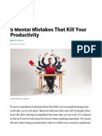 5 Mental Mistakes That Kill Your Productivity