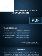 DESIGN AND FABRICATION OF MOULDING DIE new