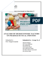 Microeconomic analysis of Pharmaceutical Industry
