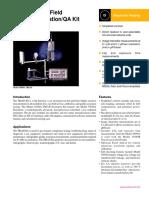 Triad X-ray field calibration